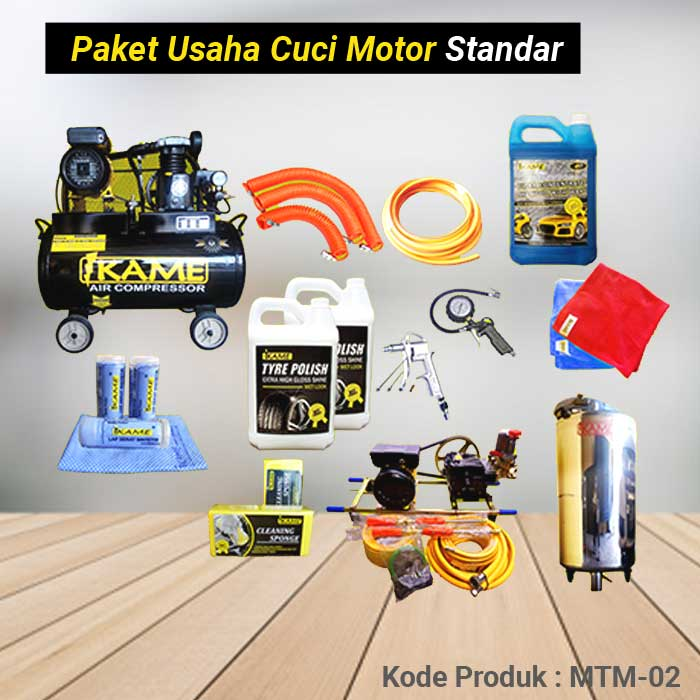 Paket Peralatan Usaha Cuci Motor Standart – MTM 02
