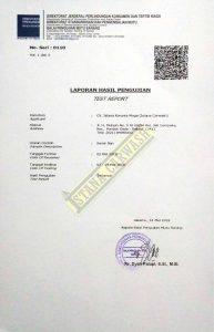 Hasil Uji Laboratorium Kementrian Perdagangan Republik Indonesia Semir Ban (2)