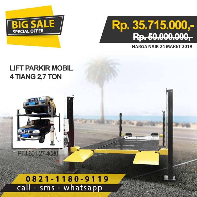 Lift Parkir Mobil 4 tiang 2,7 ton