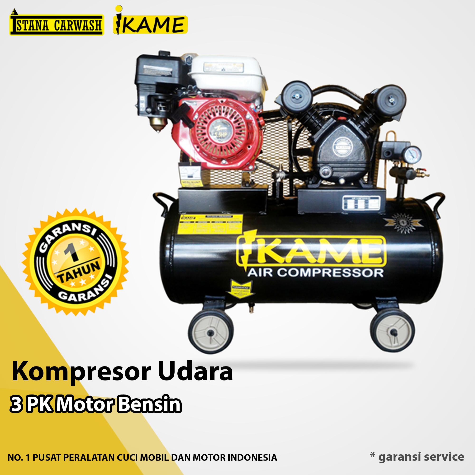Kompresor Udara Ikame 3 PK Motor Bensin