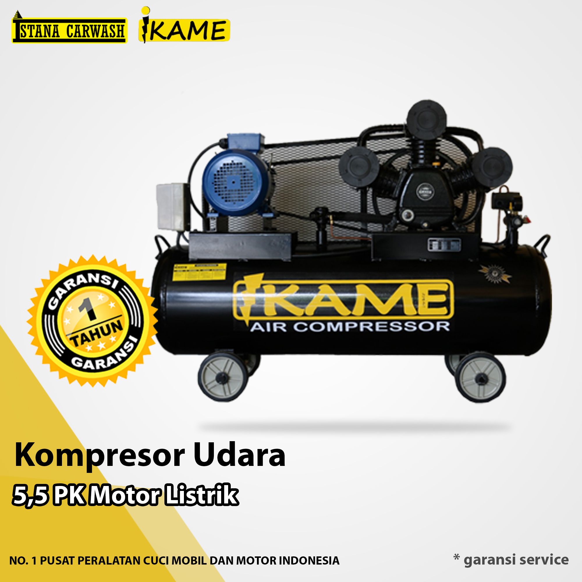 Kompresor Udara Ikame 5,5 Pk Motor Listrik