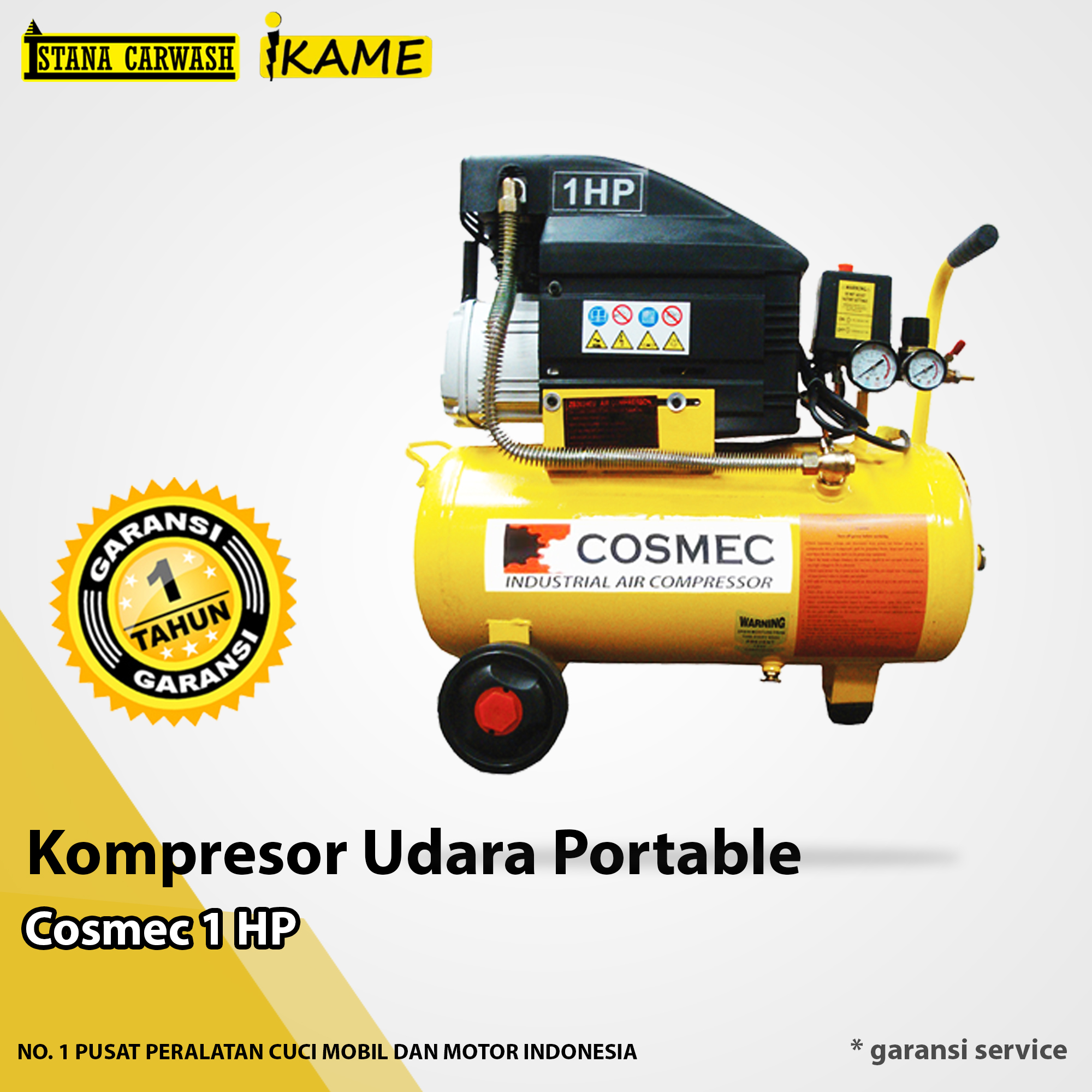 Kompresor Cosmec 1 HP Portable