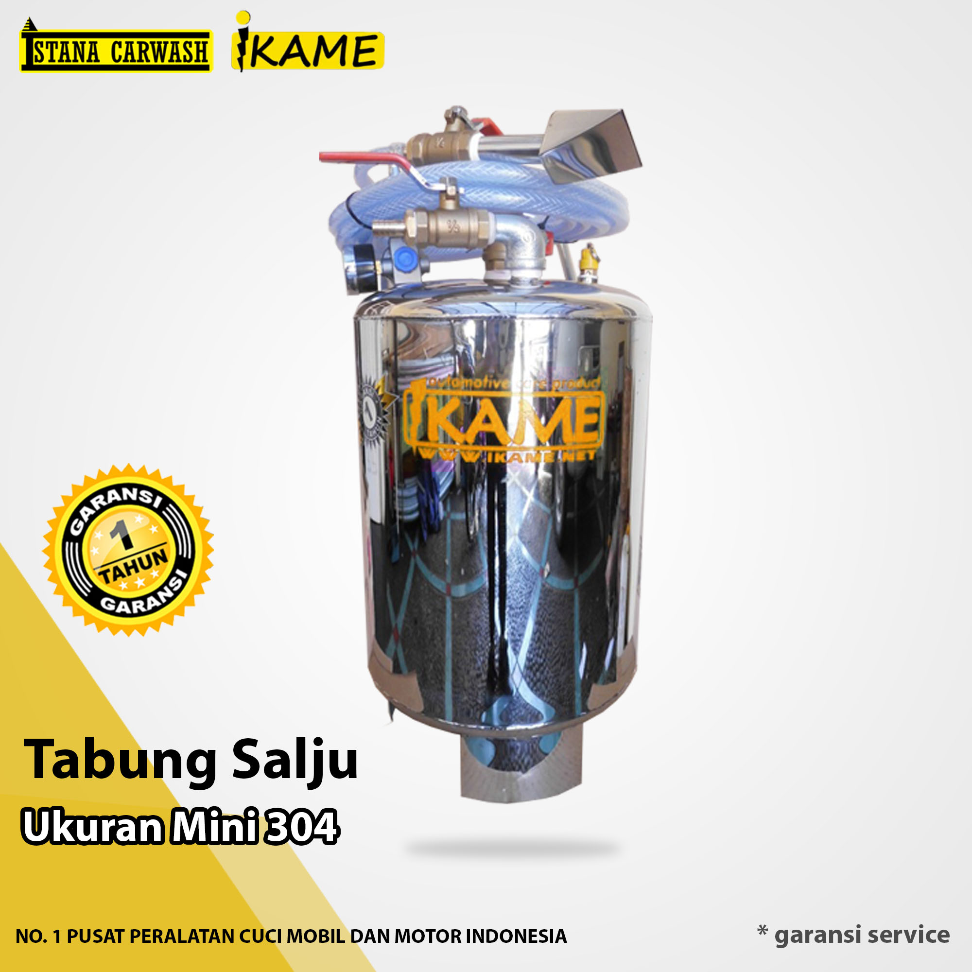 Tabung Stainless Mini Ikame 304